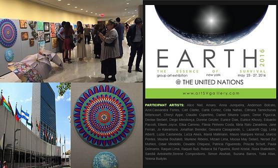 Mandala Yuya de Susana Barros em exposição no Earth Contemporary Salon 2016 na ONU-NY