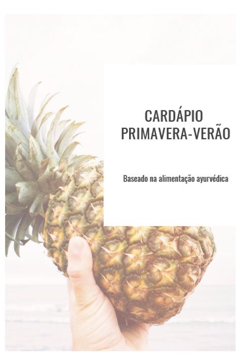 Cardápio verão E-book