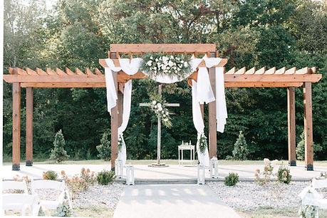 outside wedding venue pergola nashville tn destination