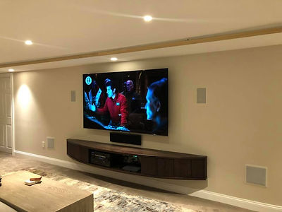 Bose Home Theater and Sony OLED TV