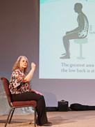 Joanne addressing The Probus Club Collingwood