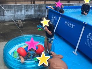 プールをしました!