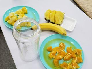 フルーツジュース作り