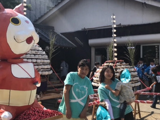 愛あーるの前の豊田本町神社でお祭り