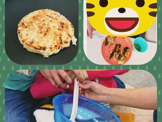 昼食作り(お好み焼き)