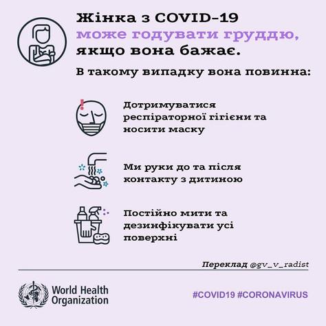 Чи можна годувати груддю з коронавірусом