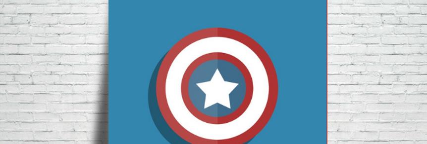 Azulejo Capitão América