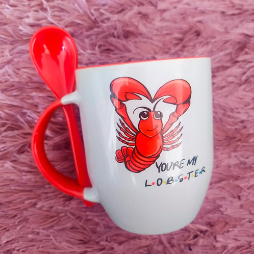 You're my lobster - Caneca com colher