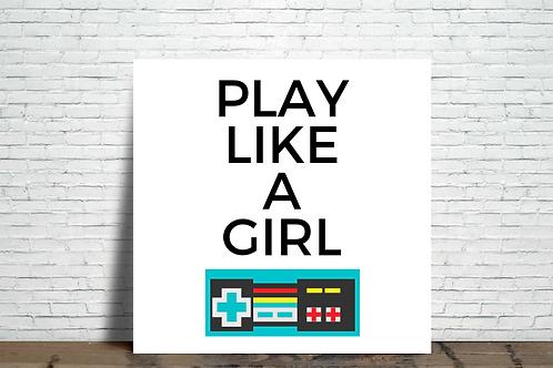 Azulejo Play like a girl