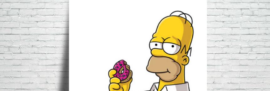 Azulejo Homer & Donut