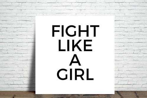 Azulejo Fight like a girl