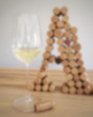 Verre de vin d'Alsace et bouchon Allimant Laugner