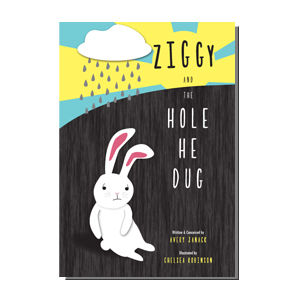 Ziggy and the Hole He Dug book illustration and design by Dashmark Designs