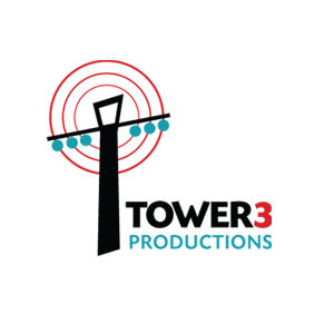 Tower 3 Productions logo design and branding by Dashmark Designs