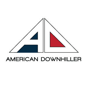 American Downhiller logo design and branding by Dashmark Designs