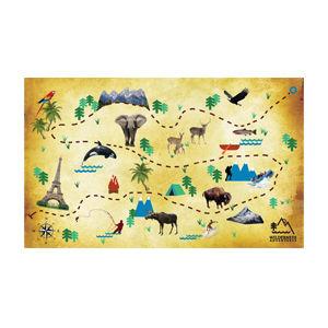 Wilderness Adventures trail map design by Dashmark Designs