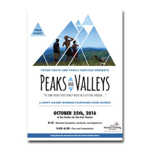 Peaks and Valleys movie poster design and branding by Dashmark Designs