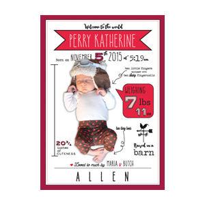 Baby announcement design by Dashmark Designs