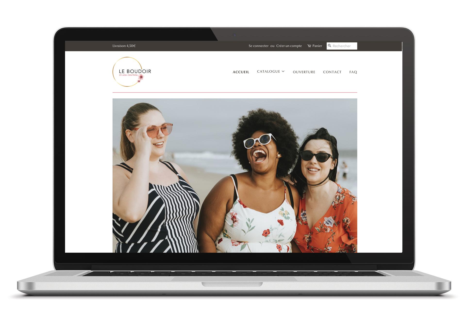 Site web Le boudoir et ses courbes