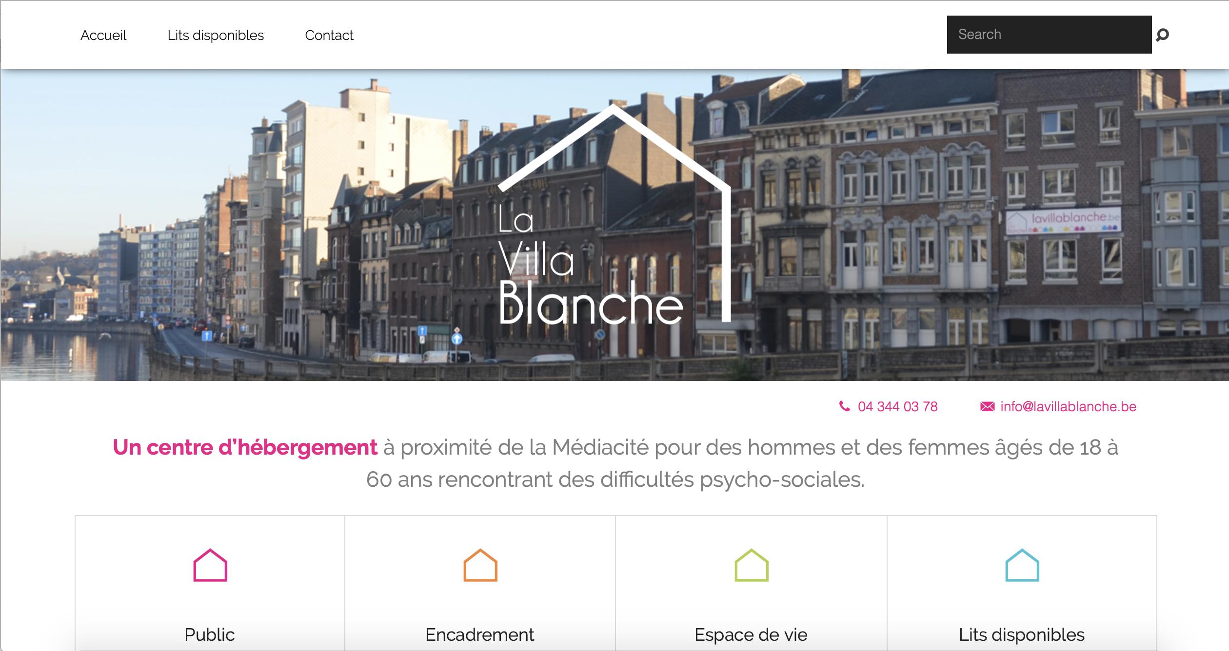 Site web la villa blanche