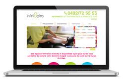 Site web Infinisoins - infirmière Liège