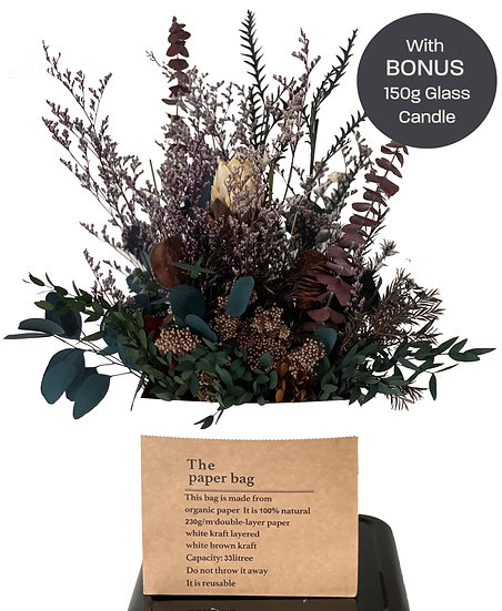 Tranquil Energy - Dried Flower Arrangement