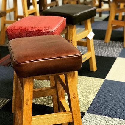 Stool, Oak / Leather