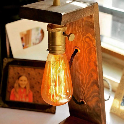 Table Lamp, Walnut Wood