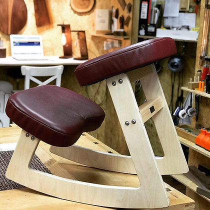 ENTSPANNT RED LEATHER - Ergonomic Chair (adult size)