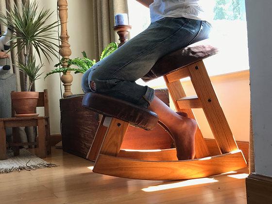 ERHOLSAM - Ergonomic Chair/ Oak Wood, Leather