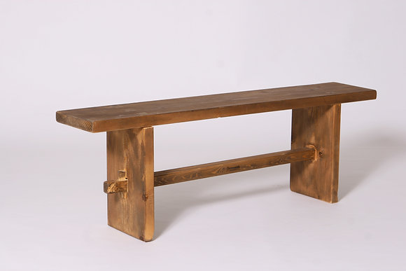 Solid wood bench- handmade with traditional joints (smaller size)