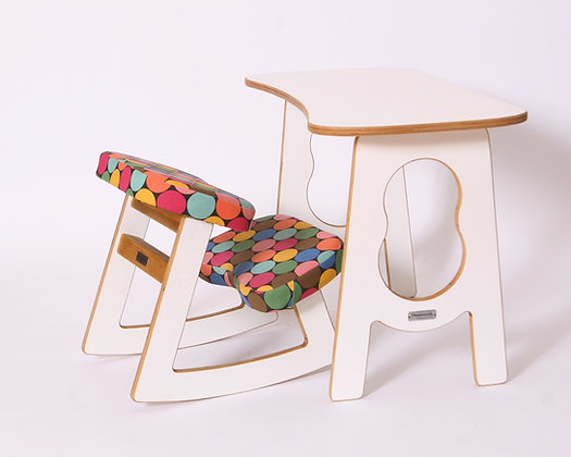 GLÜCKLICH - Ergonomic Chair and Table Set for Kids