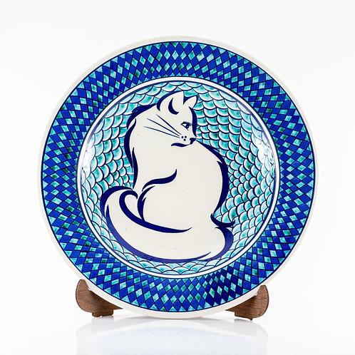 25 cm Kütahya Çini El Emeği Yemek Tabağı