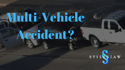 Multi-vehicle accidents can cause confusion with liability