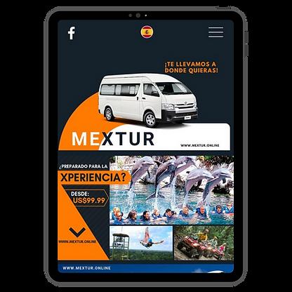 Página web responsive (tablet)