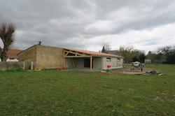 extension d'un local communal chantier