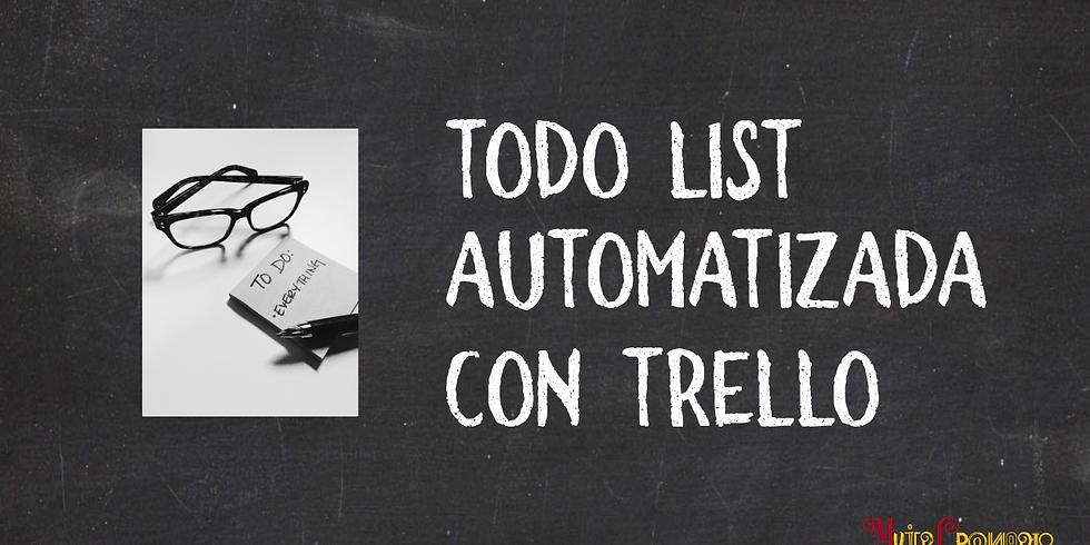 Lista de tareas (ToDo) Automatizada