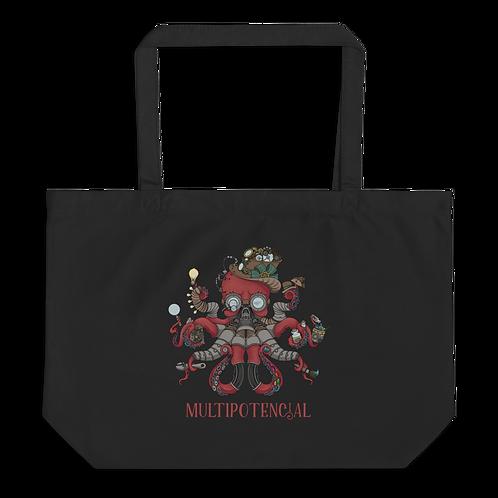 Multipotencial Large organic tote bag