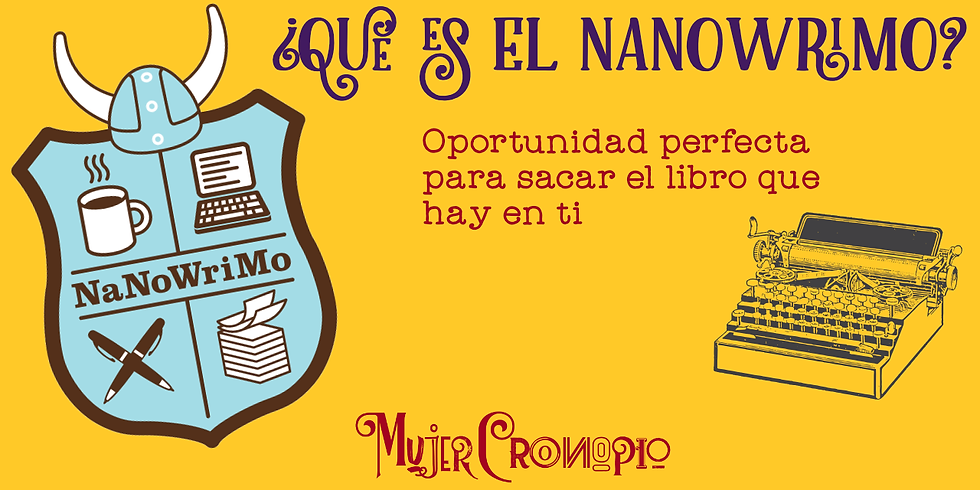 Webinar Gratuito ¿Qué es el NaNoWriMo?