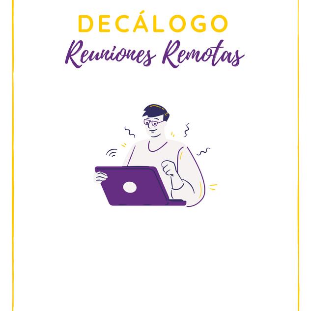 Decálogo de Reuniones Remotas