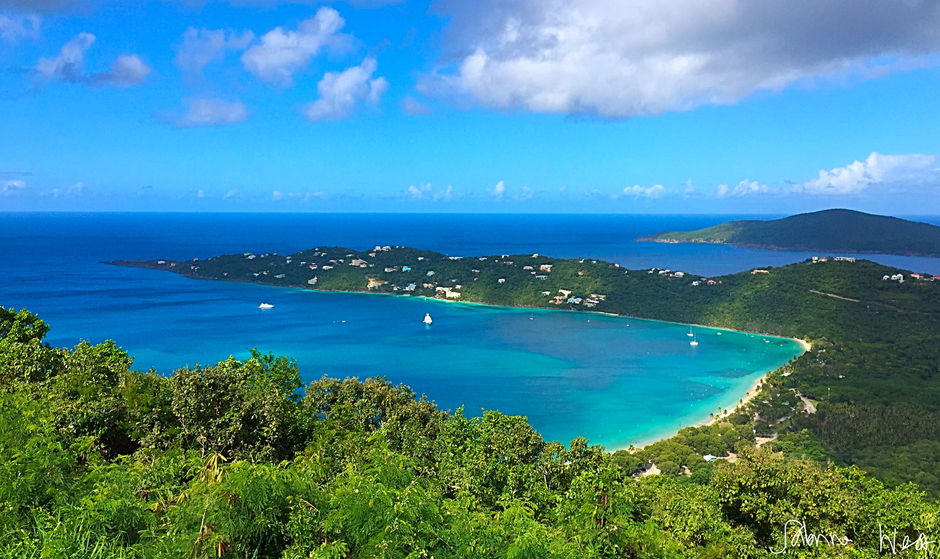 magens bay above