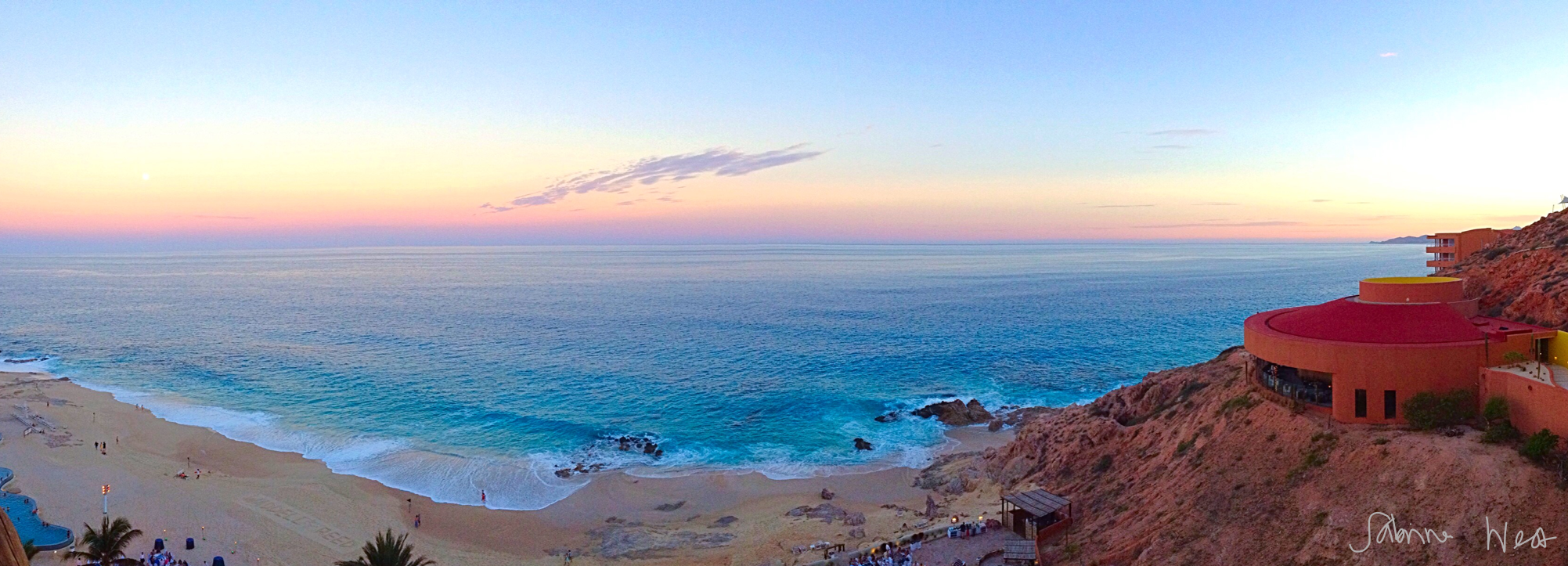 cabo sunset pano