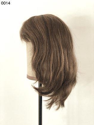 0014 HUMAN HAIR LIGHT BROWN SHOULDER LENGTH WIG