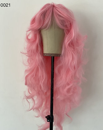 0021 PINK LONG SYNTHETIC WIG