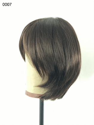 0007 BROWN SYNTHETIC SOFT LAYERED BOB