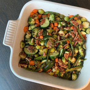 Honey glazed veggies