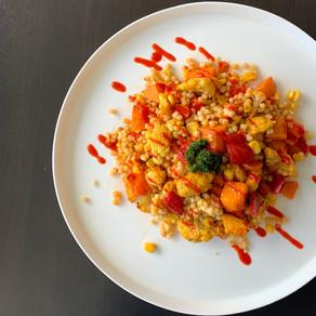 Spicy couscous met gegrilde groente