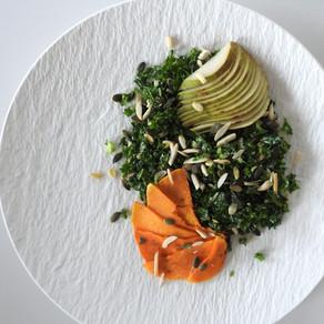 Salade met pompoen en peer