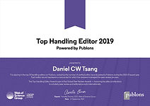 Publons_Top Handling Editor Award_DT_Sep