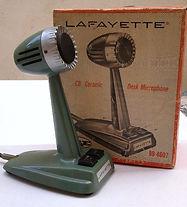"LAFAYETTE CHistory of Amateur Radio, 4X4FW, Drake TR-4, Drake RV4, ICOM IC-746PRO, IC-22A, Soviet Army HF receiver R-311, Bao Feng UV-5RA, Lafayette Desk Microphone 99-4607, MFJ-864, Bencher BY-1, Vibroplex ""Original"" Semi-AutomERAMIC MICROPHONE  99-4607,"